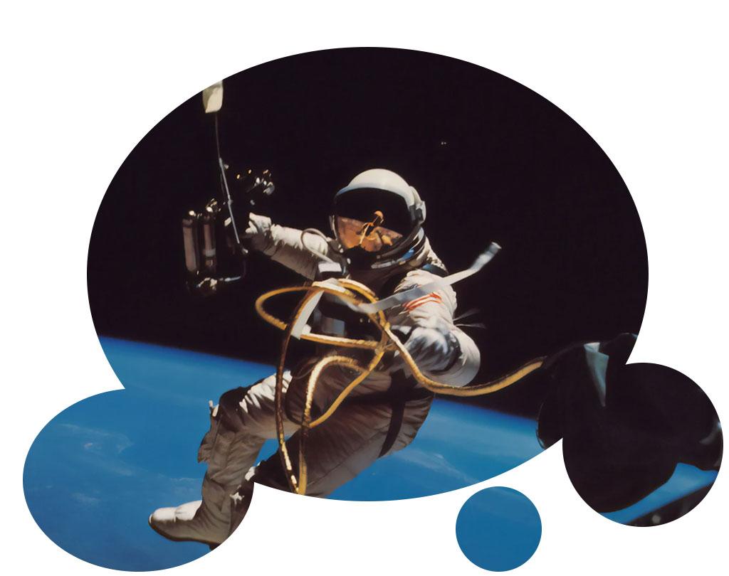 homme espace